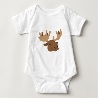 Body Para Bebê cabeça dos alces