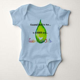 Body Para Bebê Cabeça dos óleos essenciais para toe a gota verde