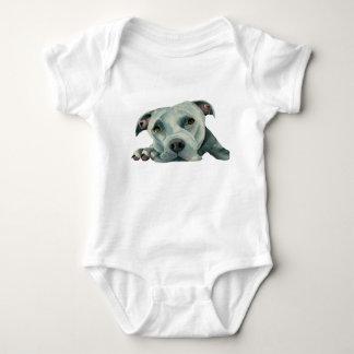 Body Para Bebê Cabeça grande de Ol - pintura da aguarela do cão