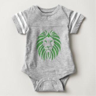 Body Para Bebê Cabeça verde do leão