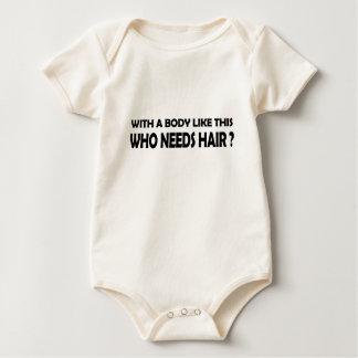 Body Para Bebê cabelo