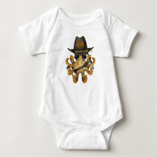 Body Para Bebê Caçador bonito do zombi do polvo do bebê