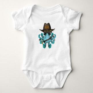 Body Para Bebê Caçador do zombi do polvo do bebê azul
