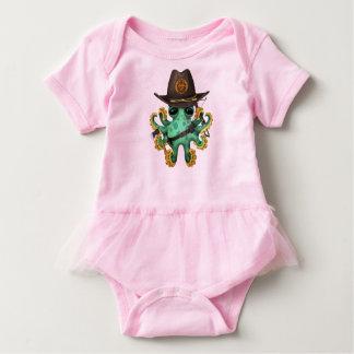 Body Para Bebê Caçador verde do zombi do polvo do bebê