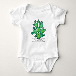 Body Para Bebê Cacto espinhoso da aguarela lindo