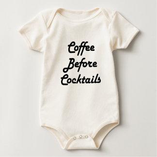 Body Para Bebê Café antes dos cocktail