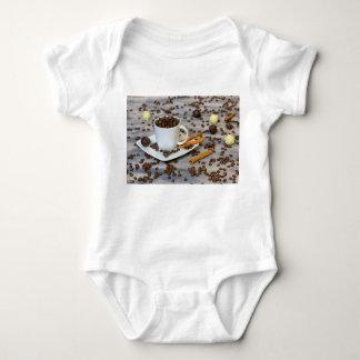 Body Para Bebê Café e especiarias