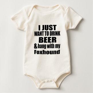 Body Para Bebê Cair com meu Foxhound