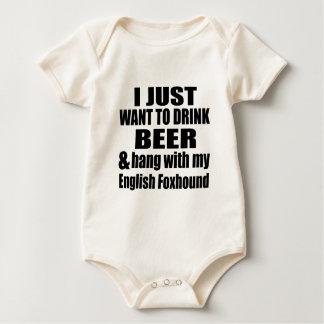 Body Para Bebê Cair com meu Foxhound inglês