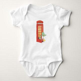 Body Para Bebê Caixa de telefone, ilustração bonito dos animais