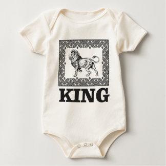 Body Para Bebê caixa do leão do rei