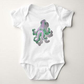 Body Para Bebê Calamar verde