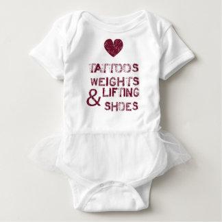 Body Para Bebê calçados dos pesos dos tatuagens fêmeas