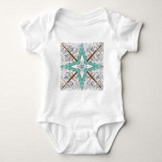 Body Para Bebê Caleidoscópio de árvores do inverno