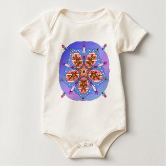 Body Para Bebê Caleidoscópio dos ursos e das abelhas