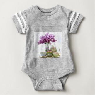 Body Para Bebê Calendário 2018 do tempo do chá