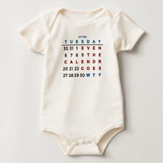 Body Para Bebê Calendário que o WTF