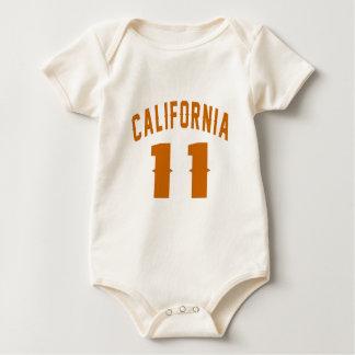 Body Para Bebê Califórnia 11 designs do aniversário
