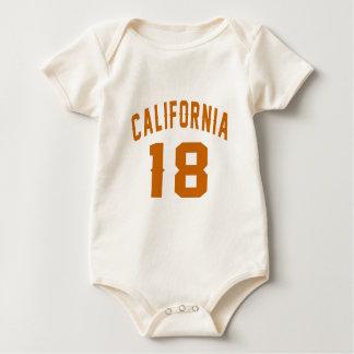 Body Para Bebê Califórnia 18 designs do aniversário