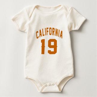 Body Para Bebê Califórnia 19 designs do aniversário