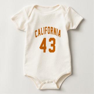 Body Para Bebê Califórnia 43 designs do aniversário