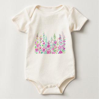 Body Para Bebê Cama floral abstrata da aguarela