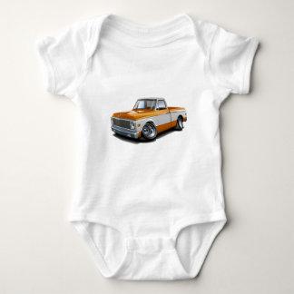 Body Para Bebê Caminhão 1970-72 Alaranjado-Branco de Chevy C10