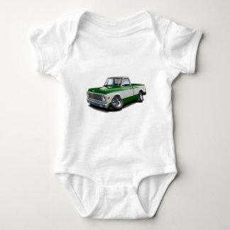 Body Para Bebê Caminhão 1970-72 Verde-Branco de Chevy C10