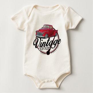 Body Para Bebê Caminhão da garagem do vintage