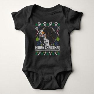 Body Para Bebê Camisola feia do Natal da raça do cão de montanha
