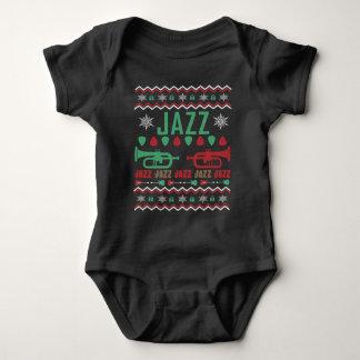 Body Para Bebê Camisola feia do Natal do jogador do jazz