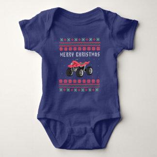 Body Para Bebê Camisola feia do Natal do veículo com rodas de ATV