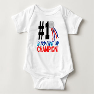 Body Para Bebê Campeão de Spitup do Burp