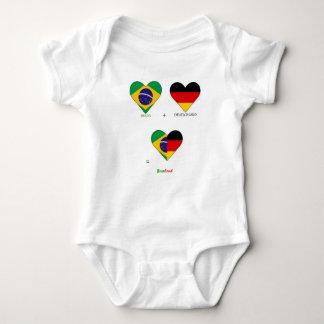 Body Para Bebê Campeonato do mundo, Brasil, alemanha