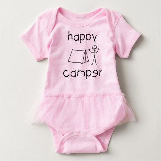 Body Para Bebê Campista feliz (preto)