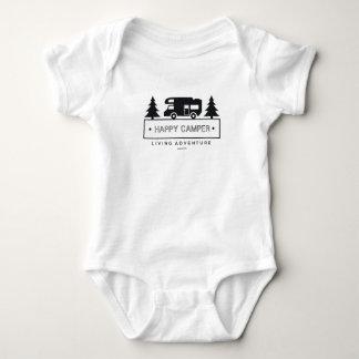 Body Para Bebê Campista feliz rv Motorhome preto e branco