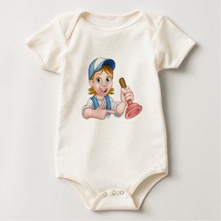Body Para Bebê Canalizador da mulher que guardara o atuador