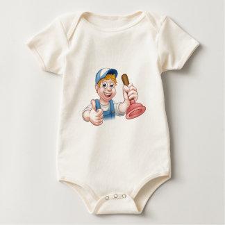 Body Para Bebê Canalizador do trabalhador manual dos desenhos