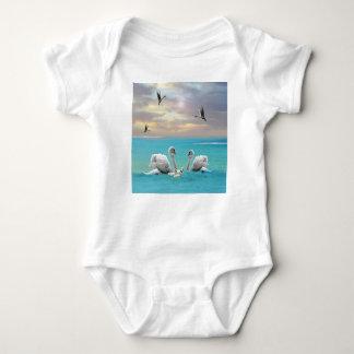 Body Para Bebê Canção da cisne branca,