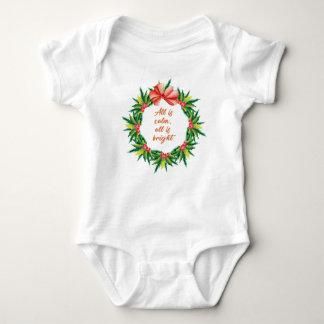 Body Para Bebê Canção de natal brilhante Desi do Natal da calma