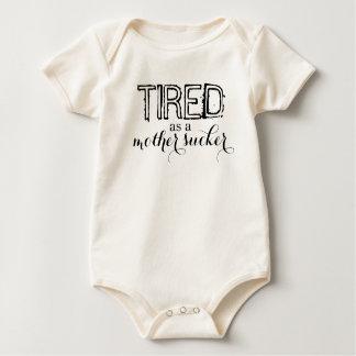 Body Para Bebê Cansado como um otário da mãe