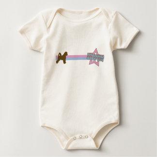 Body Para Bebê Cão de água português da estrela retro