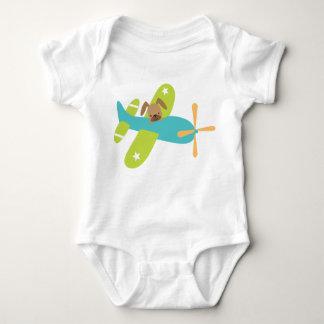 Body Para Bebê Cão de filhote de cachorro bonito do bebê no avião