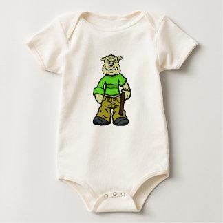 Body Para Bebê Cão de Gangsta