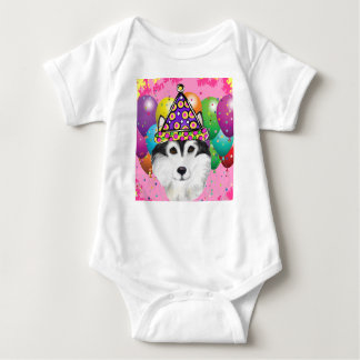 Body Para Bebê Cão do partido do Malamute do Alasca