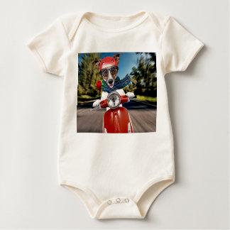 Body Para Bebê Cão do patinete, jaque russell