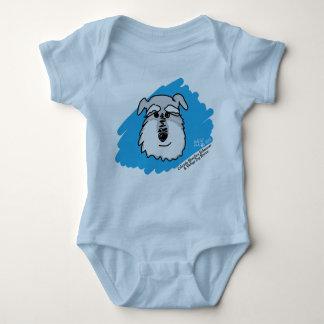 Body Para Bebê Cão do Schnauzer - terno do corpo do bebê (cores