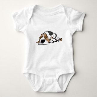 Body Para Bebê Cão dos desenhos animados de Basset Hound
