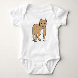 Body Para Bebê Cão personalizado de Pitbull do americano
