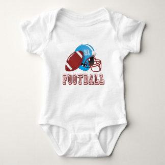 Body Para Bebê Capacete e bola de futebol